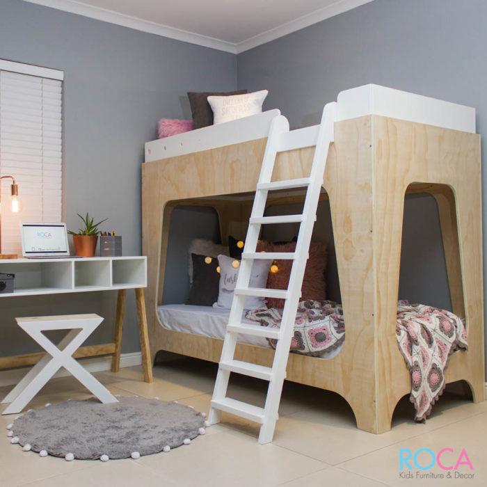Trendy Modern Children's Double Bunk Bed