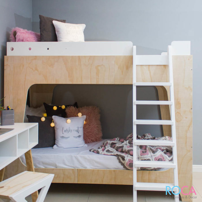 Trendy Modern Children's Double Bunk Bed
