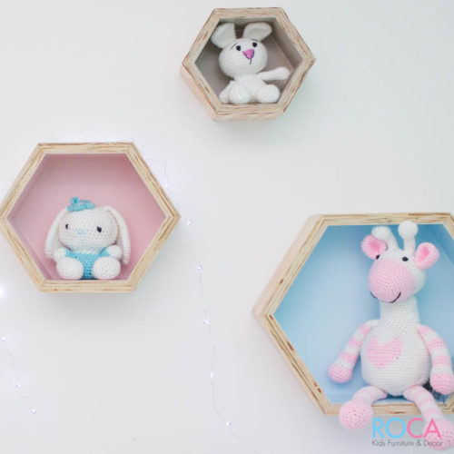Honeycomb Shelves for Kids Room